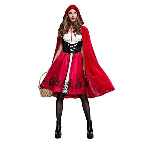 Costour Damen Halloween Kostüm Rotkäppchen Partykleidung Aufführung Cosplay -