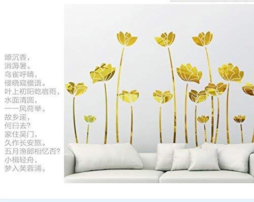 Wandhalterung Wandhalterung kreatives Jahr 3D-TV-Wand Spiegel Kosmetikspiegel, Gold