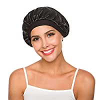 Women's Wide Band Hair Bonnet Cap for Sleeping Head Cover Bonnet Night Sleep Hat