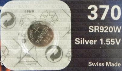 Renata 370 SR920W Pile bouton pour montre Oxyde d'argent 1,55 V