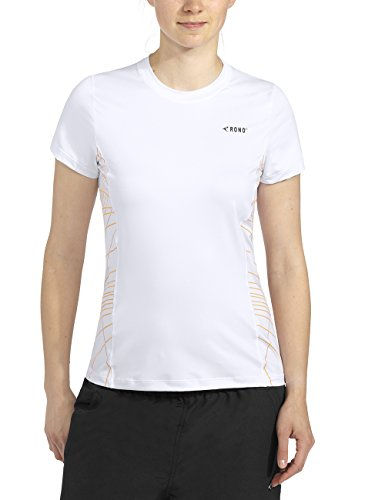 Rono T-shirt pour femme Multicolore - Blanc/safran