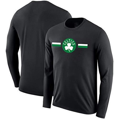 Cowboy Kostüm Dallas Für Jungen - YUNMO Basketball Neue Langarm-Kostüme Celtic NBA Herbst atmungsaktiv und schnell trocknend Trainingsanzug T-Shirt (Color : A, Size : XXL)