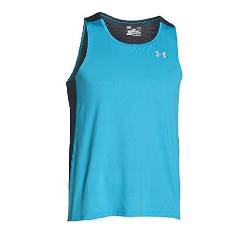 Under Armour Men's UA Coolswitch Run Singlet Vest, Light Blue (Merididan Blue), Large