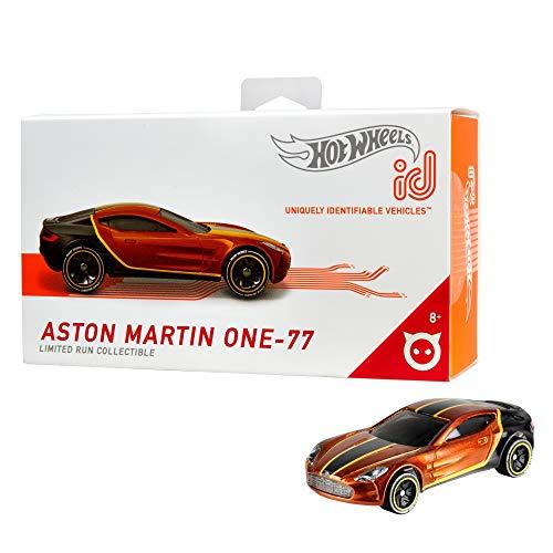 Hot Wheels iD FXB07 - Die-Cast Fahrzeug 1:64 Aston Martin One-77 mit NFC-Chip zum Scannen in der Hot Wheels iD App, Auto Spielzeug ab 8 Jahren