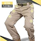 Wilk Pantalones Resistentes IX9 Pantalones Impermeables SWAT Ejército Militar Desgaste de Combate Muchos Pantalones de los Bolsillos de Carga elástica City