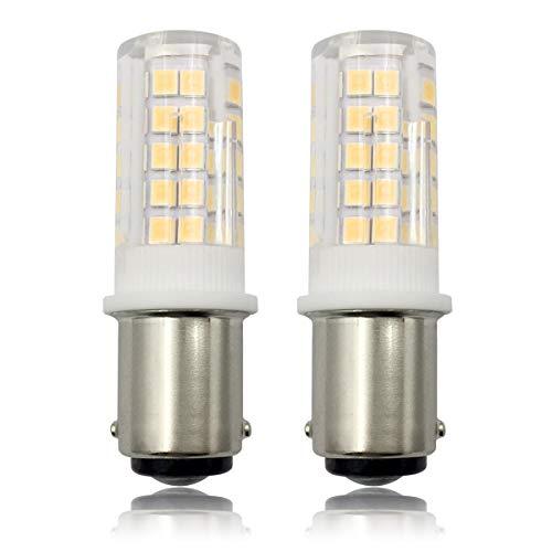 SBC B15 LED Birne Dimmbar 4W Warmweiß 40W Halogen Equivalent B15D 240V Kleine Bajonett Glühbirne 3000K für Nähmaschine/Appliance-Lampen, 2er Pack [MEHRWEG] -