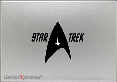 Autocollant Star Trek avec Lettres pour MacBook, Air, Pro Tous modèles
