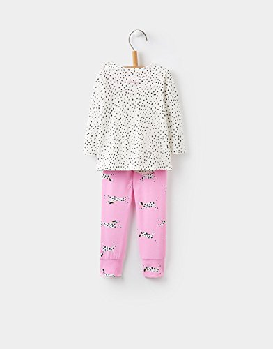 Image of Joules Baby Girls Cream Dot Dalmations Mari Top and Trouser Set (3-6 Months)