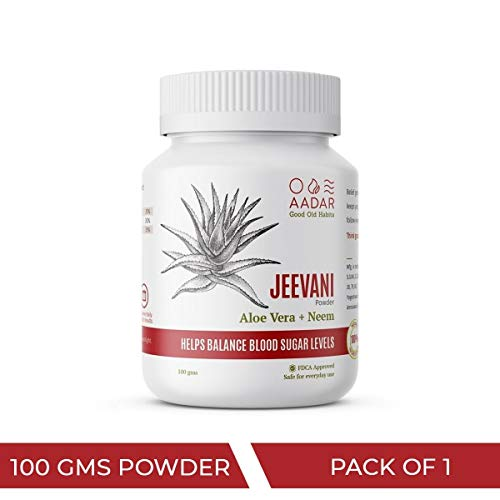 AADAR JEEVANI Ayurvedic Diabetes Powder 100 GM, with Neem and Aloe Vera