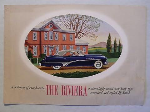 Prospekt / brochure - Buick Riviera Model 76-R - Modell 1950 - Original
