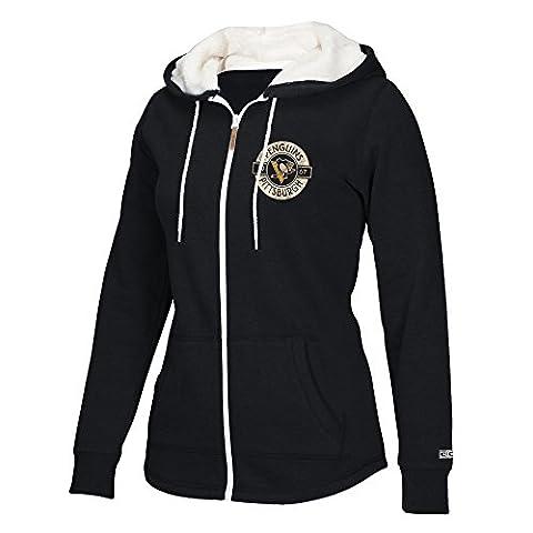 NHL Pittsburgh Penguins Women's CCM Full Zip Plush Hoodie, Small,