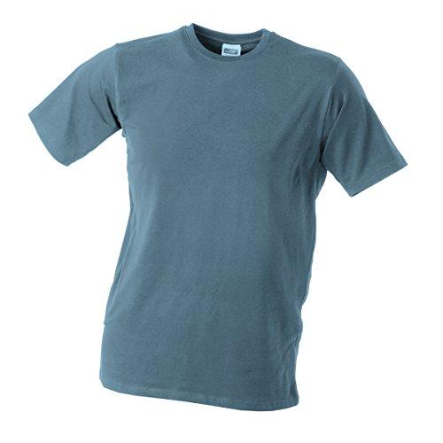 JAMES & NICHOLSON Herren T-Shirt, Einfarbig gris moyen