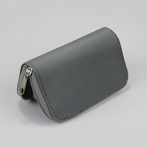 Baoblaze Silver-22 Slots SD/CF/XD/MMC/Micro Memory Card Storage Pouch Case Holder Wallet Organizer Stowing
