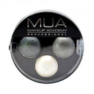 Mua Professional Makeup - Trio Eyeshadow - Smoke Screen-Grey/Silver-NEW
