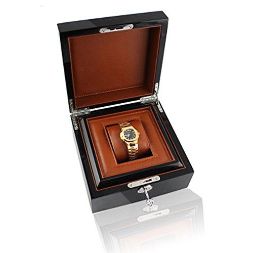 nice Holz Korn Hochglanz Farbe Flip Uhrenbox Quadrat Marke universelle Uhrenbox