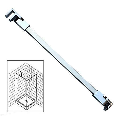 41WLJkaw%2BLL - Barras de apoyo de la pared al vidrio para colocar paneles de puerta de ducha, sin marco, acero inoxidable, para vidrios de 6mm a 10mm de grosor de M-Home