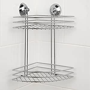Beldray La036254 2 Tier Corner Suction Shower Basket