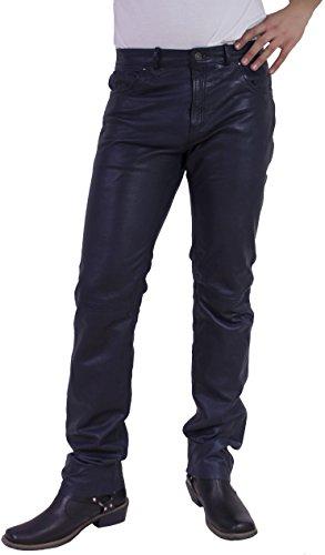 RICANO TRANT Pant Herren Lederhose im 5-Pocket Stil (Jeans Optik) aus Lamm Nappa Echtleder (Schwarz,...