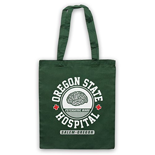Inspire par One Flew Over the Cuckoos Nest Oregon State Hospital Officieux Sac d'emballage Vert Fonce