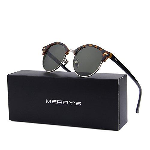 MERRY'S Damen Sonnenbrille Einheitsgröße Gr. Einheitsgröße, Leopard&Green (Leopard Green)