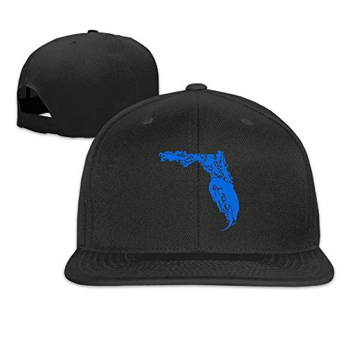 (Hipiyoled Florida Gator Flat Bill Brim Adjustable Outdr Dance Hüte Caps Baseball Cap for Men and Women 30202)