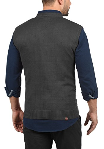 Blend Larsson Herren Pullunder Strickweste Feinstrick Mit V-Ausschnitt, Größe:M, Farbe:Charcoal (70818) - 3