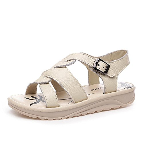 ALUK- Chaussures de plage Bottom ( couleur : Off white , taille : 38 ) Off white