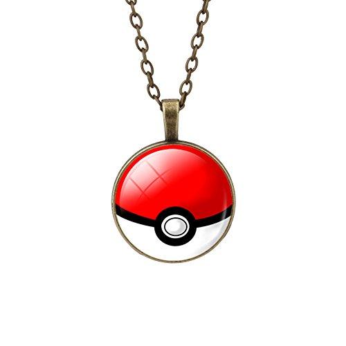 CARINGA - Collana lunga Pokeball Pokemon