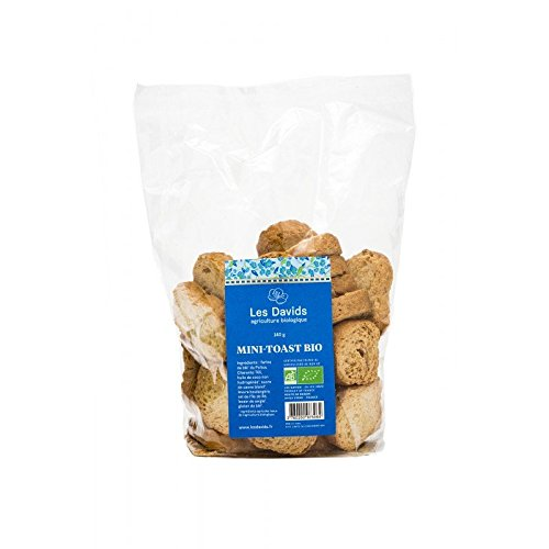 Les Davids - Mini Toast Bio - 4 paquets de 140 Gr