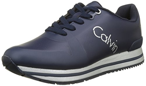 Calvin Klein Edwin Rub Smooth/Hf, Baskets Homme
