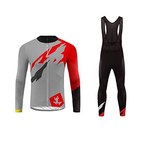 Uglyfrog Radsportbekleidung Anzüge Schnell Trocknend Lange Ärmel Fahrrad Jersey Shirt Tops 3D Kissen Lange Hosen Reithose für Herren