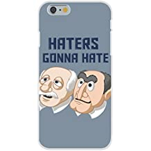 "Apple iPhone 6 Custom Case White Plastic Snap On - ""Haters Gonna Hate"" Funny Classic Puppet Franchise Parody"