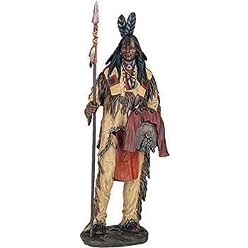 Native American Indian Chief Samoset Sculpture Statue Figure WE SHIP WORLDWIDE