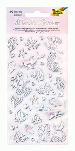 Metallic - Sticker IV mit Meerjungfrau und Unterwasser Motiven, 29 Stück, ideal geeignet zum Verzieren von Grußkarten, Bastelarbeiten und Scrapbooking (Scrapbooking Sticker Meerjungfrau)