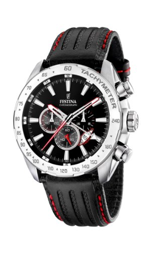 Price comparison product image Festina Men's Chrono Watch F16489/5 With Black Leather Strap