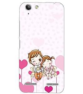 PrintDhaba LOVE COUPLE D-6533 Back Case Cover for LENOVO VIBE K5 PLUS (Multi-Coloured)