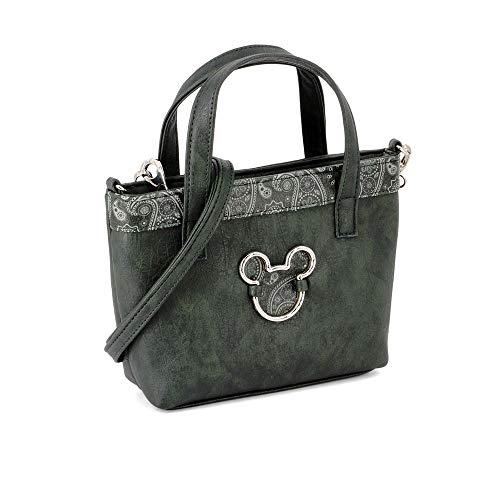 Karactermania Mickey Mouse Paisgreen-bolso Tote (pequeño) Umhängetasche, 24 cm, Grün (Paisgreen) (Mouse Mickey Handtaschen)