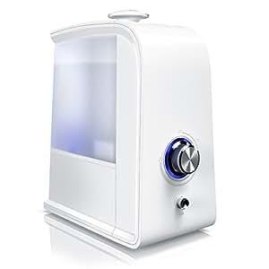 Arendo - Umidificatore + Ionizzatore da 3,5 Litri 2 in 1   L'Originale Arendo NEW 2019   Depuratore aria   Silenzioso   Spegnimento automatico   A risparmio energetico   Bianco
