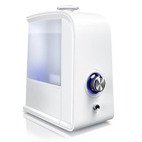 Humidificador Arendo | Humidificador de interiores | Difusor por ultrasonido | Purificador de aire| Tecnología de ultrasonido | Neutralización de olores mediante ionización (opcional)