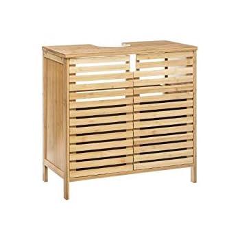 Ac Déco Meuble Sous Vasque En Bambou Sicela 60 X 28 X 58 Cm