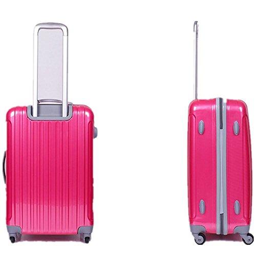 Xiuxiandianju 20 pollici a 24 pollici 28 pollici Caster viaggiatore PC che trasportano caso impermeabile valigia SuitcaseColour & formato differente (56-75 L) , rose red , 20 inch