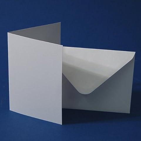 Craft UK - 50 cartoline, interno vuoto + buste 5'' x 7'', colore: Bianco