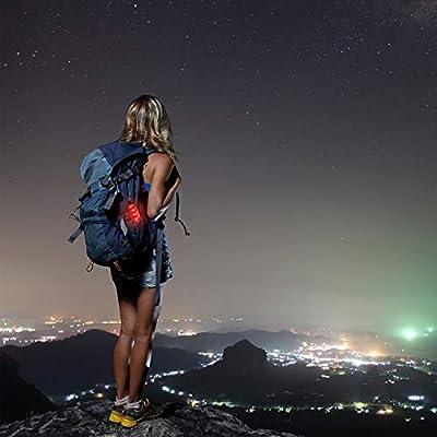 Malker LED Sicherheitslicht Set Sicherheit Licht Blinklicht für Nachtläufer Bergsteiger Student Hunde mit Batterien Clip Dauerlicht und Blinklicht 2er