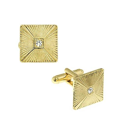 1928 Jewelry - Boutons de Manchette - Métal - Cristal - 61664