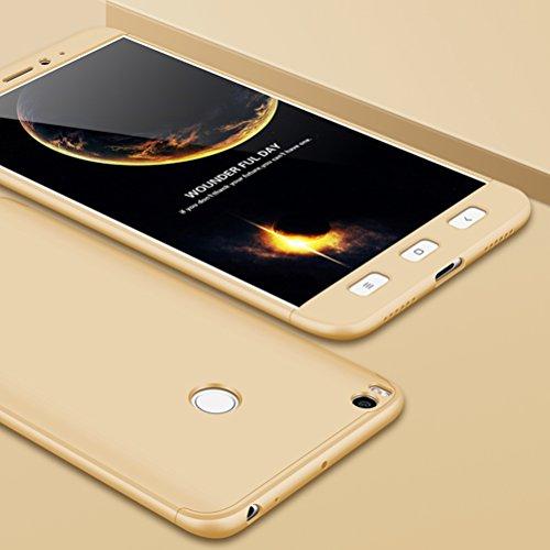 SOCINY Funda Xiaomi Mi MAX 2,Cobertura de Cuerpo Completo Protección Combinación de PC Anti-Scratch Ultrafina Funda antichoque con Todo Incluido Funda-Oro