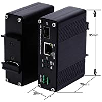 Endurecido 1000Base-T a SFP, 1000BASE-X Ethernet convertidor de medios con PoE +
