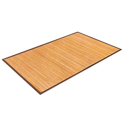 COSTWAY Bambusmatte Bambusteppich Bambus Läufer Vorleger Teppich Fußmatte Wohnzimmer Küchenteppich 150x240cm