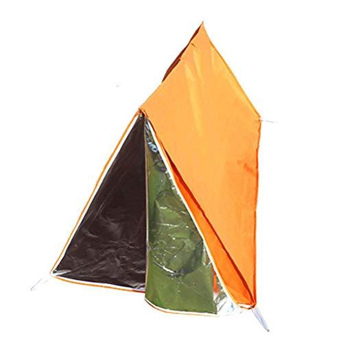 HWCP.CP Notfall-Zelt Für Outdoor-Camping Bietet Notfall-Überleben Nicht-Gewebte Zelte Orange Größe 100 × 100 × 200 cm (Camping Notfall-zelte Für)