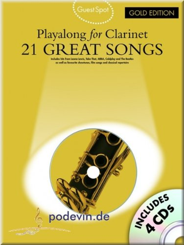 21Great Songs-Playa Long For Clarinet-Gold Edition-Clarinetto Noten [Note musicali]