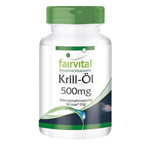 Krill-Öl 500mg - für 1 Monat - HOCHDOSIERT - 90 LiCaps - Superba Antarktis, reich an EPA & DHA